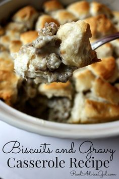 biscuits and gravy casserole recipe