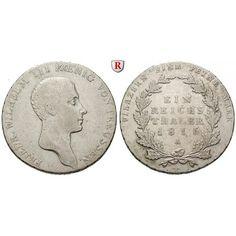 Brandenburg-Preussen, Königreich Preussen, Friedrich Wilhelm III., Reichstaler 1816, ss: Friedrich Wilhelm III. 1797-1840.… #coins