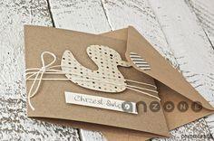 scrapbooking - kartki okolicznościowe-Kartka na chrzest, urodziny, narodziny