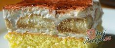 Šlehačkové řezy s kávovými piškoty Kakao, Vanilla Cake, Tiramisu, Desserts, Whipped Cream, Bakken, Cake Ideas, Dessert Ideas, Top Recipes