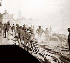 Sherman's men destroying railroad. It was made in 1864 by Barnard, George N., 1819-1902.