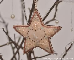 Felt star christmas decoration bead embroidery 2 | Flickr - Photo Sharing!