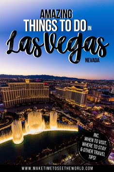 The Ultimate Las Vegas travel guide to help you plan your visit inc Where to Stay, What to eat, the Best Things To Do in Las Vegas + Day Trip Ideas! *** Las Vegas | Las Vegas Tips | Las Vegas Things To Do | Las Vagas Vacation | Day Trips from Las Vegas | What to do in Las Vegas | Las Vegas Tourist Attractions | Vegas | What to do in Vegas | Las Vegas Things To Do | Things to do in Vegas | Las Vegas Bucket List | Las Vegas Bucket List Things to do | Las Vegas Nevada #USATravel #LasVegas Las Vegas Travel Guide, Usa Travel Guide, Las Vegas Trip, Travel Usa, Travel Guides, Travel Tips, Travel General, Visit Usa, Usa Cities