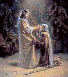 Jesus heals the crippled and the lame