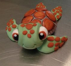 OMG I LOVE SQUIRT.... Turtle Cake Topper edible fondant icing by NicolePeglerCakeArt, $40.00