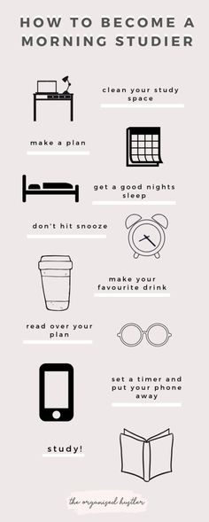 Tips on Becoming a Morning Studier - Image credit: The Organised Hustler Mcat Study Tips, Exam Study, Study Skills, Gre Study, Study Tips For Exams, Good Study Habits, Revision Tips, Exams Tips, Vie Motivation