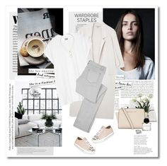 """White T-shirt"" by yexyka ❤ liked on Polyvore featuring Stop Staring!, Zara, Libertine, Oak, Elsom, Browns, MICHAEL Michael Kors, Byredo, Kendra Scott and Miu Miu"