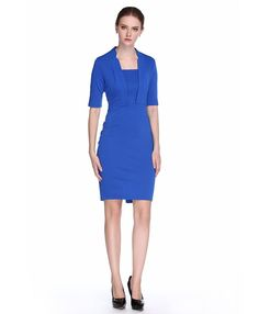 L'ALYSSE Women's Half Sleeve Square Neck Tunic Business Pencil Dresses -- See this awesome image  : Dresses Sale