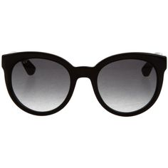 Pre-owned Gucci Logo Cat-Eye Sunglasses (2,840 MXN) ❤ liked on Polyvore featuring accessories, eyewear, sunglasses, black, gradient lens sunglasses, cat eye sunnies, logo glasses, cat eye sunglasses and logo sunglasses
