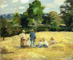 Resting Harvesters, Montfoucault - Camille Pissarro