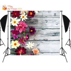Beautiful flowers on vintage wood, I use them to take photos for cakes, food, mini thing, it turns out amazing.