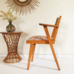 Vintage Armchair by ChouetteFabrique on Etsy. Rattan Furniture, Vintage Furniture, Chaise Vintage, Vintage Armchair, Chaise Chair, Mid Century Modern Armchair, Take A Seat, Home And Deco, Wishbone Chair