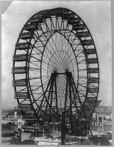 The first Ferris Wheel at the 1893 Columbian International Exposition in Chicago. It was designed by George W. G. Ferris, Jr., the younger brother of Margaret Ferris Dangberg. G. W. G. Ferris grew up in Carson Valley, Nevada, and Margaret's husband, H. F. Dangberg, financed his young brother-in-law's engineering education.
