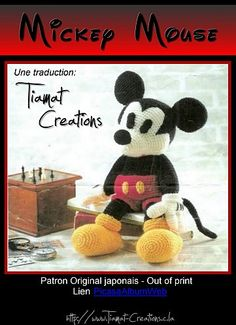 Mickey Mouse - free pdf pattern (written in French)