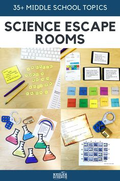 These escape rooms for your middle school science class will take it to the next level. Students will be begging for more. For information about various aspects of science. 7th Grade Science, Elementary Science, Middle School Science, Science Education, Teaching Science, Science Activities, Science Experiments, Science Fair, Elementary Education