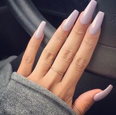 My nails are this color, its called lilac so pretty.