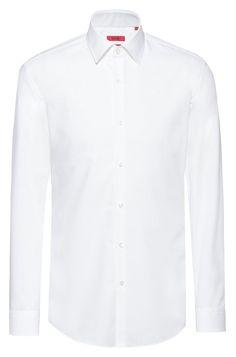 Hugo Boss C-Jenno Chemise business Slim Fit en popeline de coton - Chemise Homme Hugo Boss - Iziva.com Chemise Slim Fit, Shirt Dress, Business, Fitness, Mens Tops, Shirts, Dresses, Fashion, Vestidos