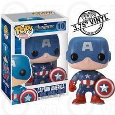 Boneco Capitão América - Os Vingadores - Marvel - Funko Pop! #geekwish