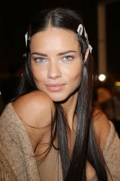 "Adriana Lima's DIY Avocado Hair Treatment Hack Is the Key to Shiny Hair  II  Brazilian hair hacks: ""We'd take our conditioner or hair mask and mix it with avocado and put that in our hair for a treatment. It leaves your hair super shiny."