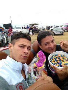 Alex Meraz & Gil Birmingham at the Comanche Fair 2013