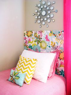 Bright & Fun Girl's Bedroom  http://www.bellemaison23.com/2012/05/reader-project-bright-fun-girls-bedroom.html#