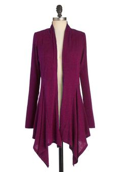 Just a cozy, chic cardigan...  Leaf It for Later Cardigan in Magenta, #ModCloth