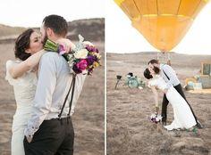 Потрясающая свадьба с воздушным шаром