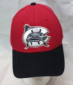 Carolina Mudcats Minor League Baseball Flexible Fitted Hat Red Zephyr Z Fit #Zephyr #CarolinaMudcats