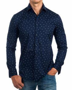 Camisas Armani Azul Marino - Iconico