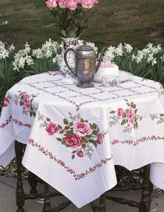 CAPE MAY TABLECLOTH- I am ordering this tablecloth to tea dye and make into the long awaited sink skirt.