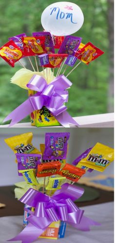 DIY Mothers Day Gifts (Inexpensive Candy Vases)These are amazing gifts for mothers day graduation gifts teacher appreciation week gifts. Homemade Mothers Day gifts for Teens and tweens to make. You know your mom is sweet just make her a little sweeter. Diy Father's Day Gifts Easy, Homemade Mothers Day Gifts, Diy Gifts For Kids, Father's Day Diy, Mothers Day Crafts, Mother Day Gifts, Crafts For Kids, Easter Crafts, Teacher Appreciation