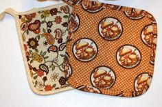 Vintage Quilted Pot Holders Set of 2 Pot by myvintagewhimsy