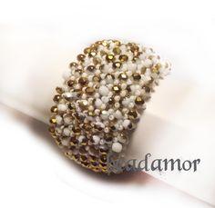 beaded bracelet Antonia free shipping worldwide by Beadamor on Etsy