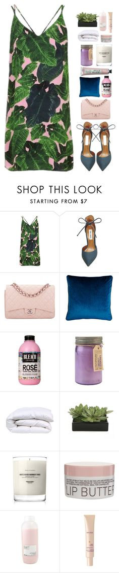 """pink paradise"" by lanadelnotyou ❤ liked on Polyvore featuring Topshop, Steve Madden, Chanel, Lori Shinal Interiors, Paddywax, Lux-Art Silks, Baxter of California, Korres, Davines and Decléor"