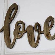 A little word that carries so much meaning. Declare your Love for that special person with a plaque that simply spells it out for you. A thoughtful gift idea that perfectly expresses how you feel. The word 'Love' in a wooden cutout plaque, highlighted with a delicate flowing script. This would add a sweet touch, hung on the bedroom, living room or hallway wall.