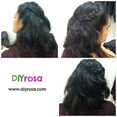 peinado trenzas laterales DIYrosa.com Facebook: fb.com/DIYrosa Twitter: @DIYrosa Instagram: diyrosa