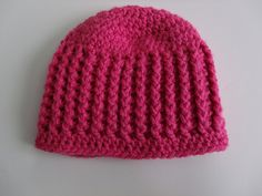 Ribbed Baby Hat..from newborn to 12 months..nice..free