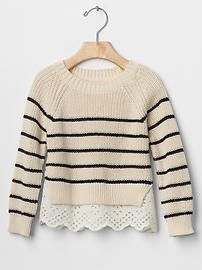 Gap $37 Stripe mix-fabric sweater