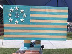 Nautical Starfish Handmade American Flag