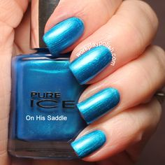 Pure Ice On His Saddle Swatch (work / play / polish).  Only $1.99 at Walmart!
