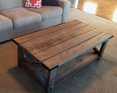 Items Similar To Farmhouse Coffee Table Weathered Restoration Hardware Look On Etsy