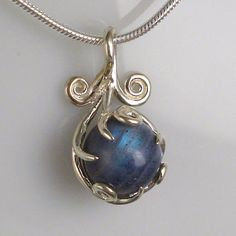 Labradorite pendant, beautifully handmade by Jean-Marc Gladu.