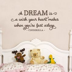 A dream is a wish your heart makes  when by OldBarnRescueCompany, $18.00 -- toddler's room?
