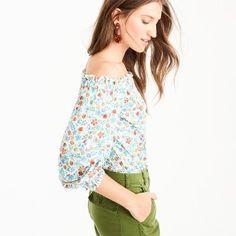Off-the-shoulder top in Liberty® Edenham floral