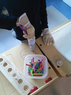 Our learners voted to turn our drama centre into a science lab. Some students had lots of background knowledge, while others didn't know wha. Hazard Symbol, Environmental Print, How To Make Signs, Dramatic Play Centers, Play Centre, Lab, Science, Learning, Room