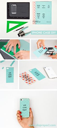 Customiza tu funda de iphone y transfórmala en la más crafter del lugar #DIY #freetemplate