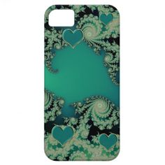 Irish iPhone Fractal Case with Green Hearts