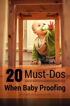 I needed to baby proof the house in a way that's still livable for the rest of the family. From what I've learned, here are 20 must-dos when baby proofing your house.