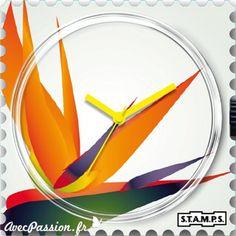 Prenez votre envol avec cette montre Stamps Plus de montres sur notre site AvecPassion.fr : https://www.avecpassion.fr/50-montres-stamps-montre-fantaisie