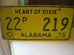 Vintage 1975 Alabama Heart of Dixie License Plate & Texas License Plates Scrapbook Paper | Scrapbooking | Pinterest ...